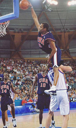 Vince Carter dunk at the Olympics